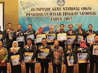 Sang Juara Olimpiade Guru Nasional (OGN) Tahun 2017 : Guru SD dan Guru SMP