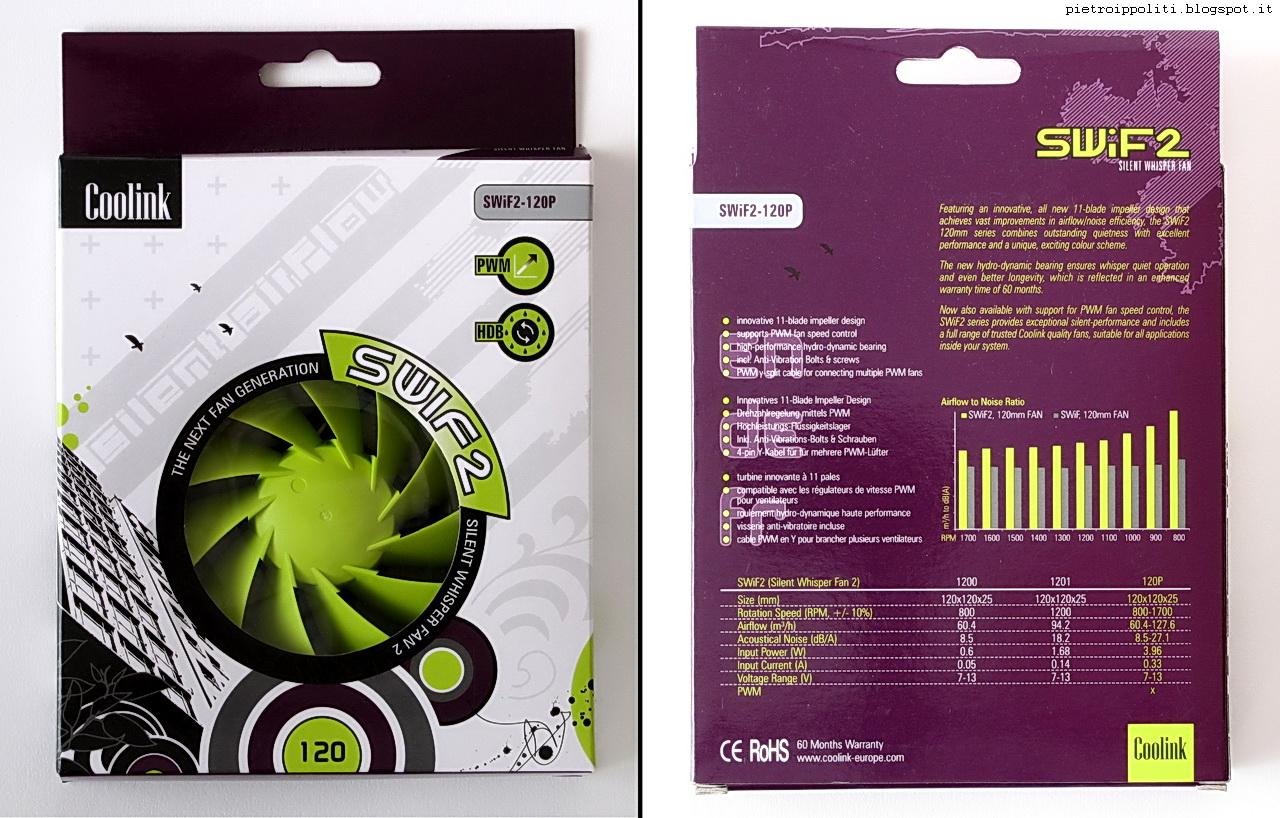 Coolink Swif2-120P, confezione