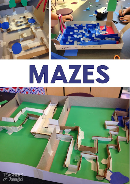 STEM Engineering Challenge: Samples of several of the marble mazes we built! Fabulous STEM event!