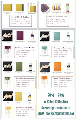 2014-16 In Colors from Stampin' Up! UK - Limited Time Availability