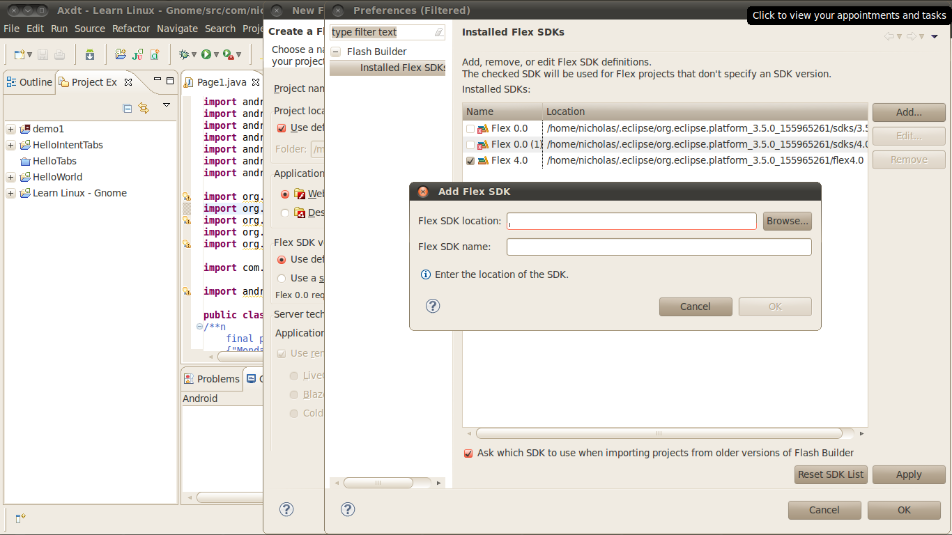 Linux, OpenOffice org and Open Source Software: Flex 4 on Eclipse