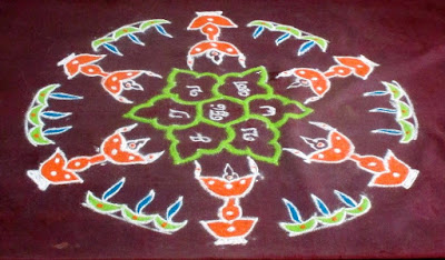 Kathigai deepam kolam finished