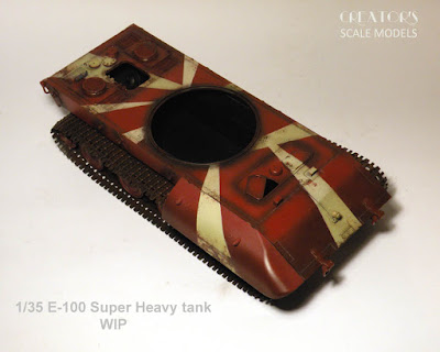 1/35 Trumpeter's - E100 Heavy Tank (Part 4)