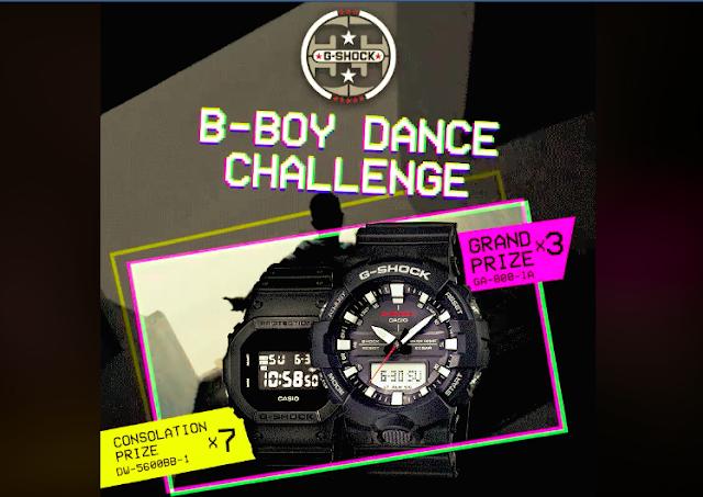 G-Shock B-Boy Dance Challenge Contest Malaysia August 2018