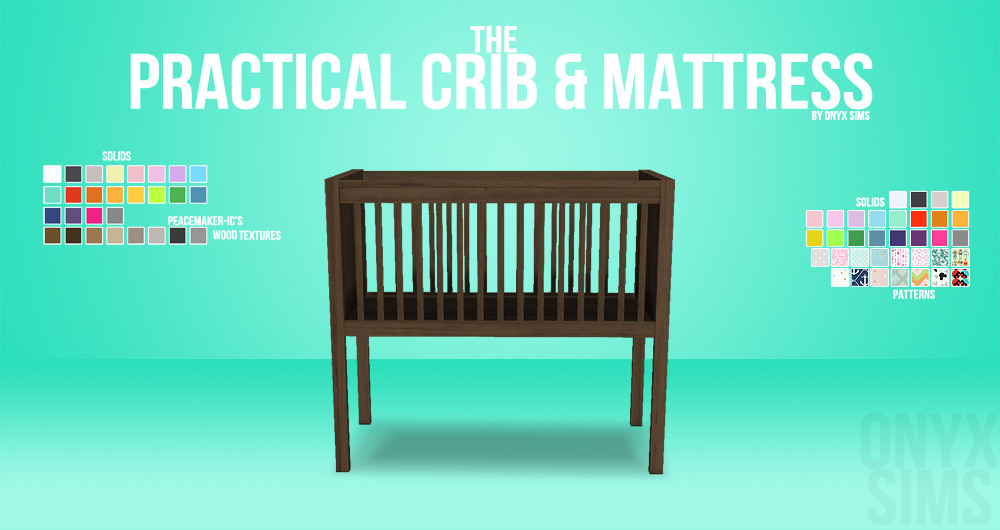 The Practical Crib Amp Mattress Onyx Sims