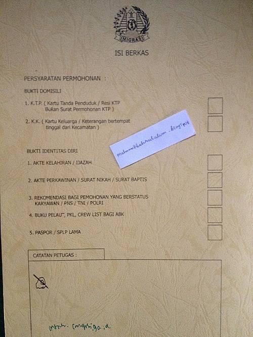 syarat mutlak pembuatan paspor biasa baru