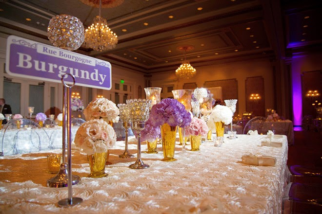 Fifty Shades of Purple for a Luxury Wedding in New Orleans - Belle ...