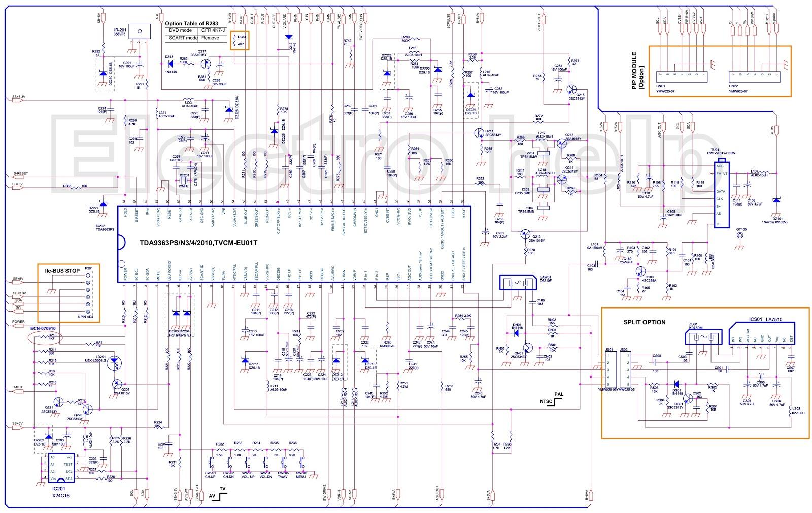Color TV CRT type - circuit diagram - TDA9363PS N3 4 2010 ...