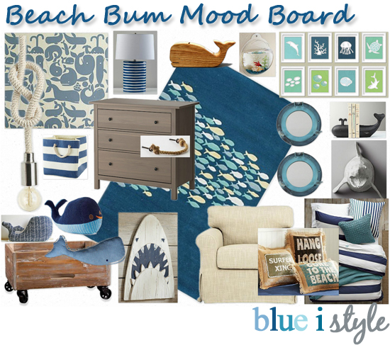 Decorating With Style Mood Board Beach Bum Big Boy Room