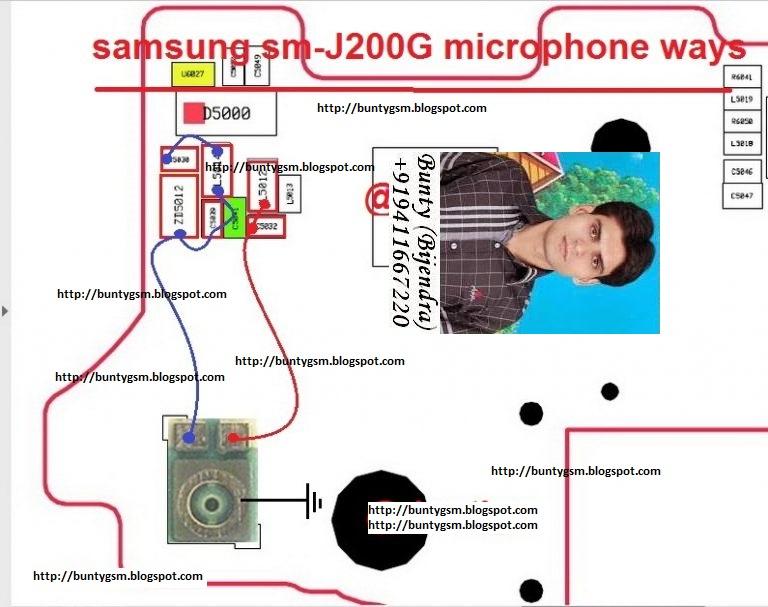 Samsung SMJ200G Microphone Ways Mic Problem Jumper