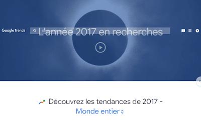 لائحة جوجل للكلمات الأكثر بحثا لسنة 2017