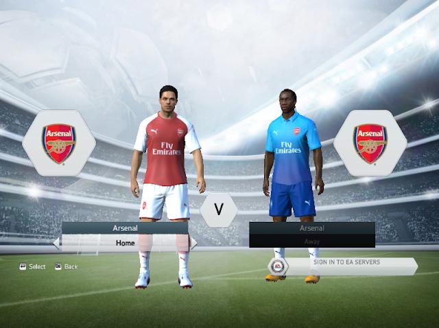 Arsenal FC 2017/18 Kit Pack For FIFA 14/15