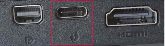Portul thunderbolt are aceeași formă precum cel USB de tip C