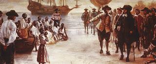 Llegada de un barco de esclavos a Virginia a principios de 1600