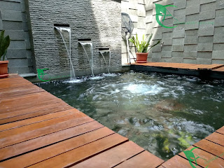 jasa renovasi pembuatan kolam koi dan jasa pembuatan taman minimalis se jabodetabek.