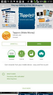 Download tapporo di playstore