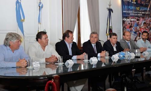 Presentación oficial del Test Match entre Los Pumas vs. Gerogias en Jujuy
