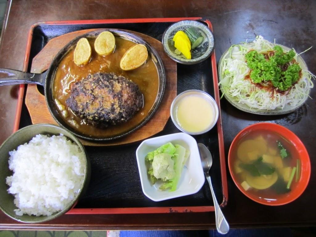Healthy Horse Meat Miso Flavour Hamburg Set Miki ヘルシー馬肉味噌味ハンバーグ定食 食事処味喜