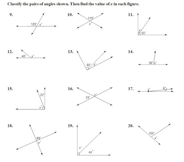 Math with Mrs. Rooks: 3/7/17 Missing Angle Measures