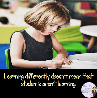 Learning differently doesn't mean that students aren't learning.