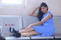 Telugu Actress Mounika UHD Stills in Blue Short Dress at Tik Tak Telugu Movie Audio Launch .COM 0218.JPG