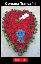 Coroana funerara in forma de inima