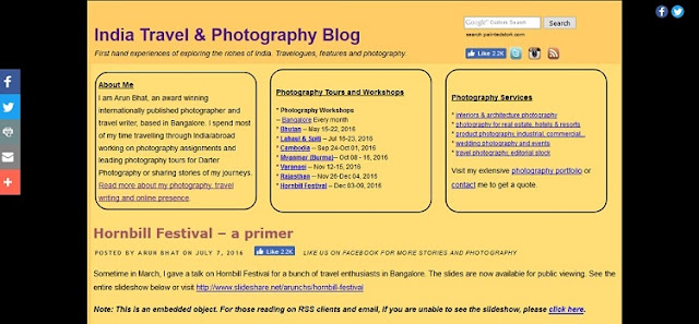 Indian Travel and photography blog