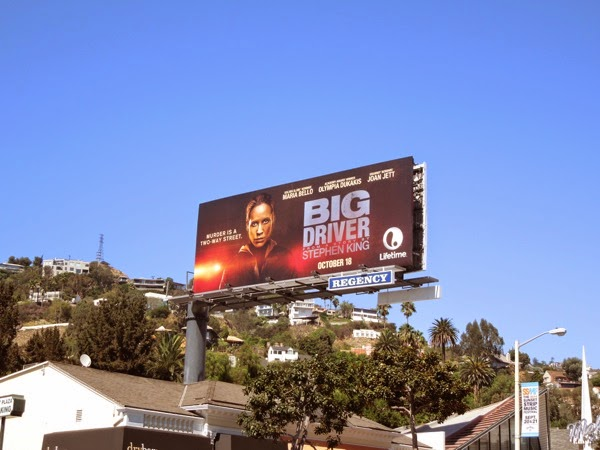 Big Driver TV movie billboard