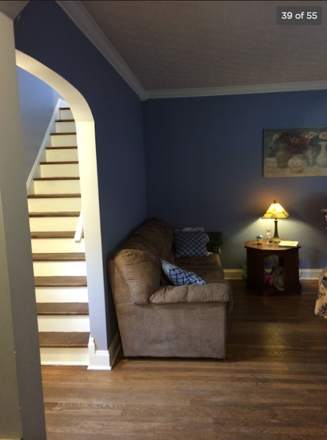 living room and staircase access Sears Barrington 236 Oakgrove St Ravenna Ohio