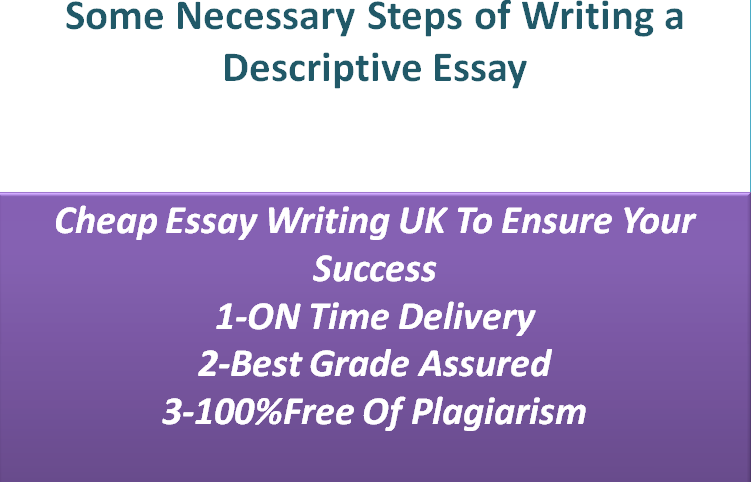 steps to take when writing a descriptive essay
