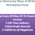 Some Necessary Steps of Writing a Descriptive Essay