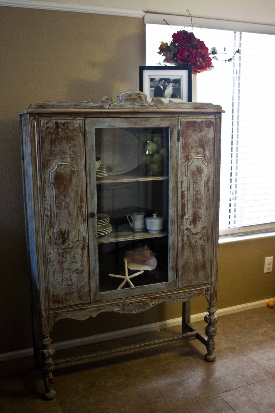 New To You Antique Distressed Hutch