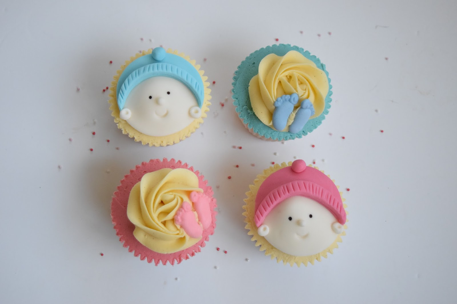 Cupcakes, Baby Shower, Ideas, Designs, Boy, Girl, Cute, Faces, Blue,Pink