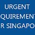 Urgent Requirements for Singapore - Apply Now