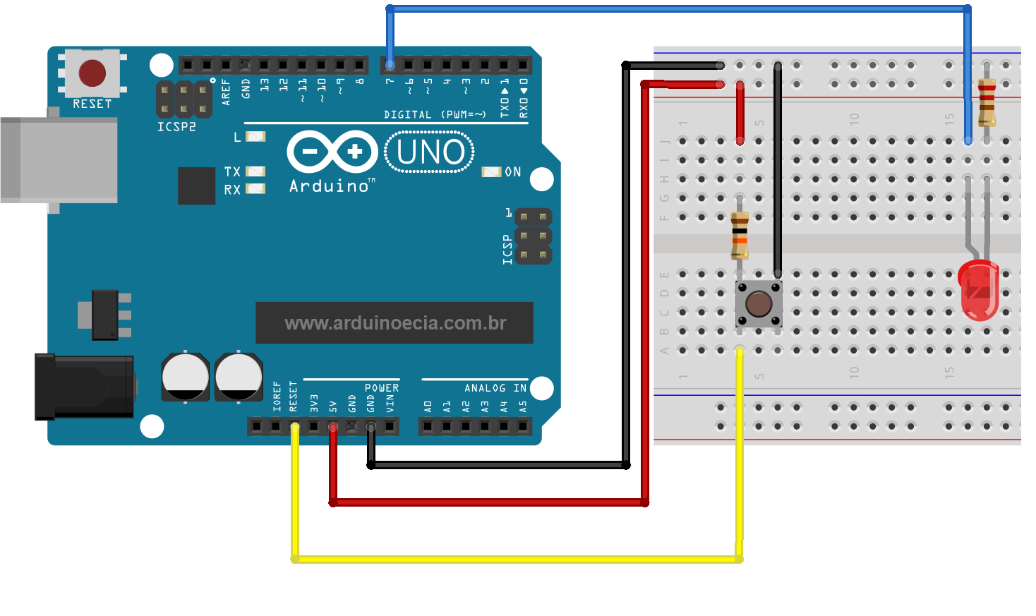 Circuito Reset Arduino