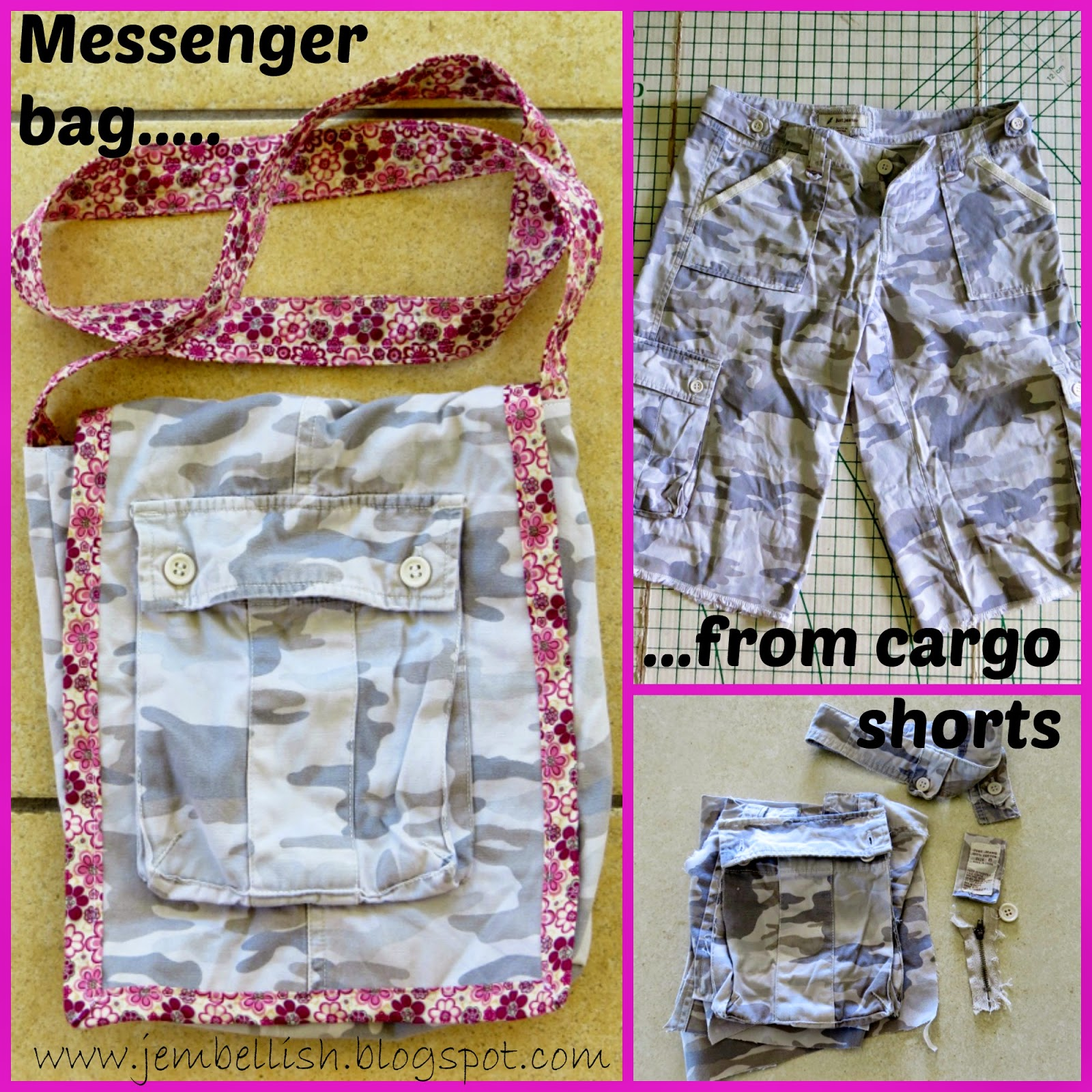 Messenger Bag from Cargo Shorts