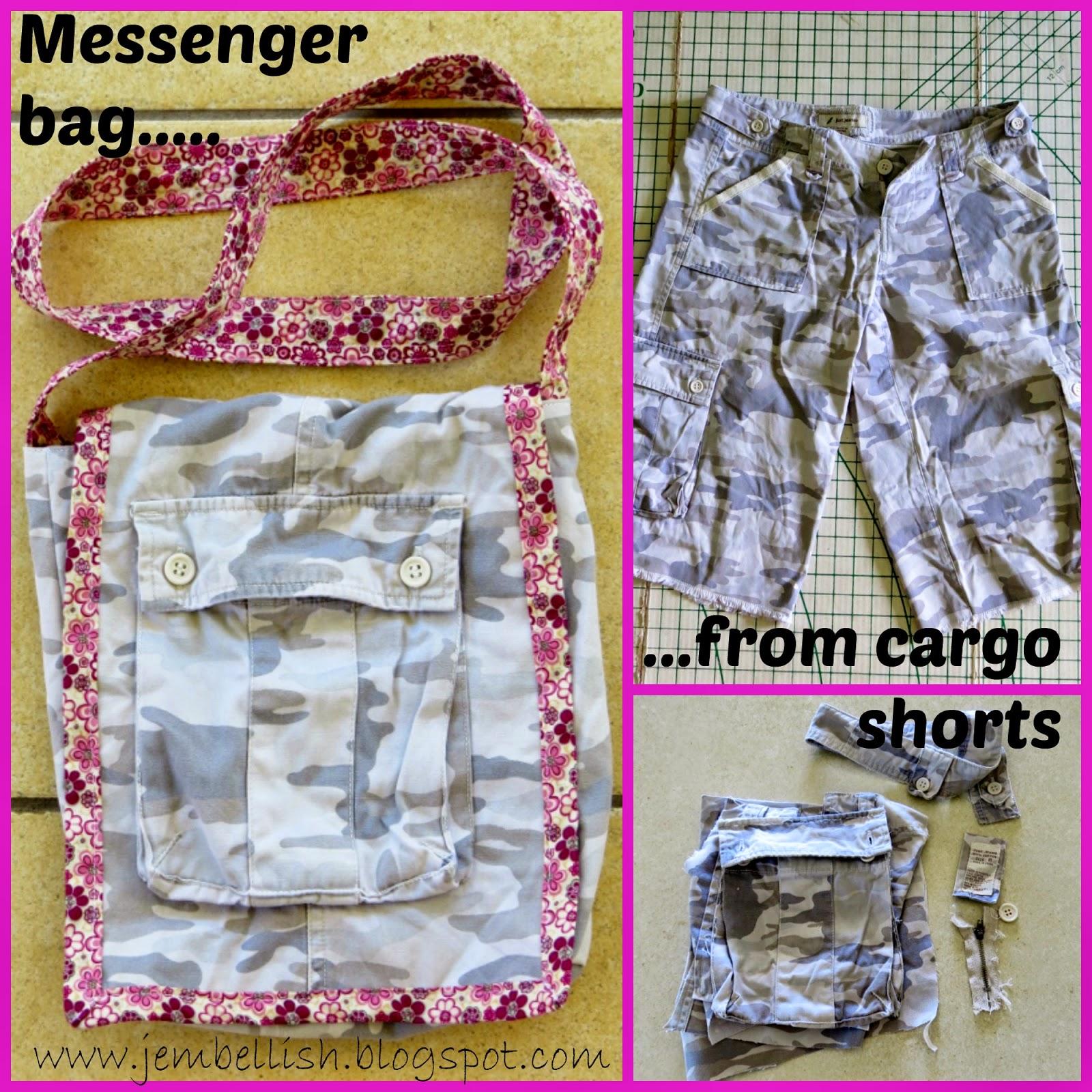 Messenger Bag from Cargo Shorts