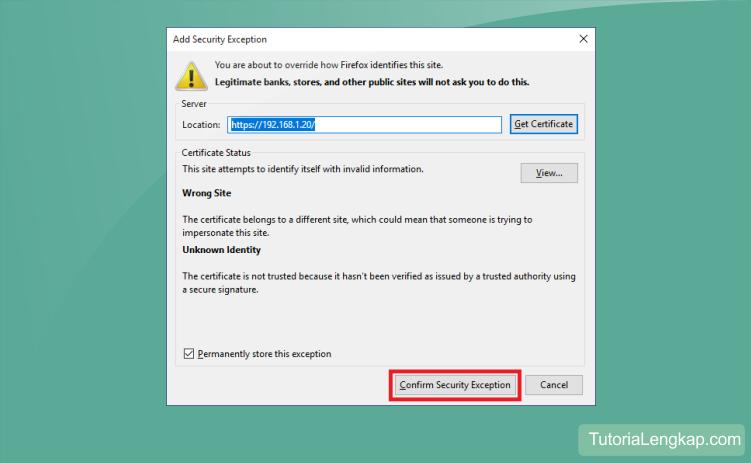 Tidak dapat membuka halaman web sebab alasan  Tutorial Melewati Your Connection Is Not Secure Pada Browser