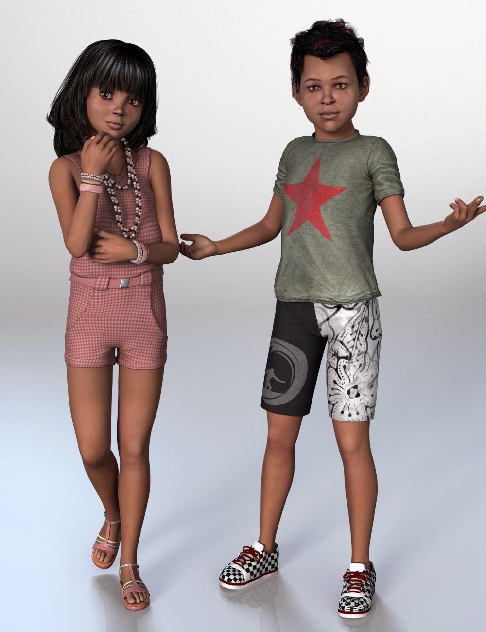 Mark for The Kids 4 | DAZ Studio Kids 4 | Asian, Female
