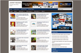 Johny Wuss Blogger Template Gratis