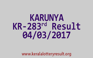 KARUNYA Lottery KR 283 Results 4-3-2017
