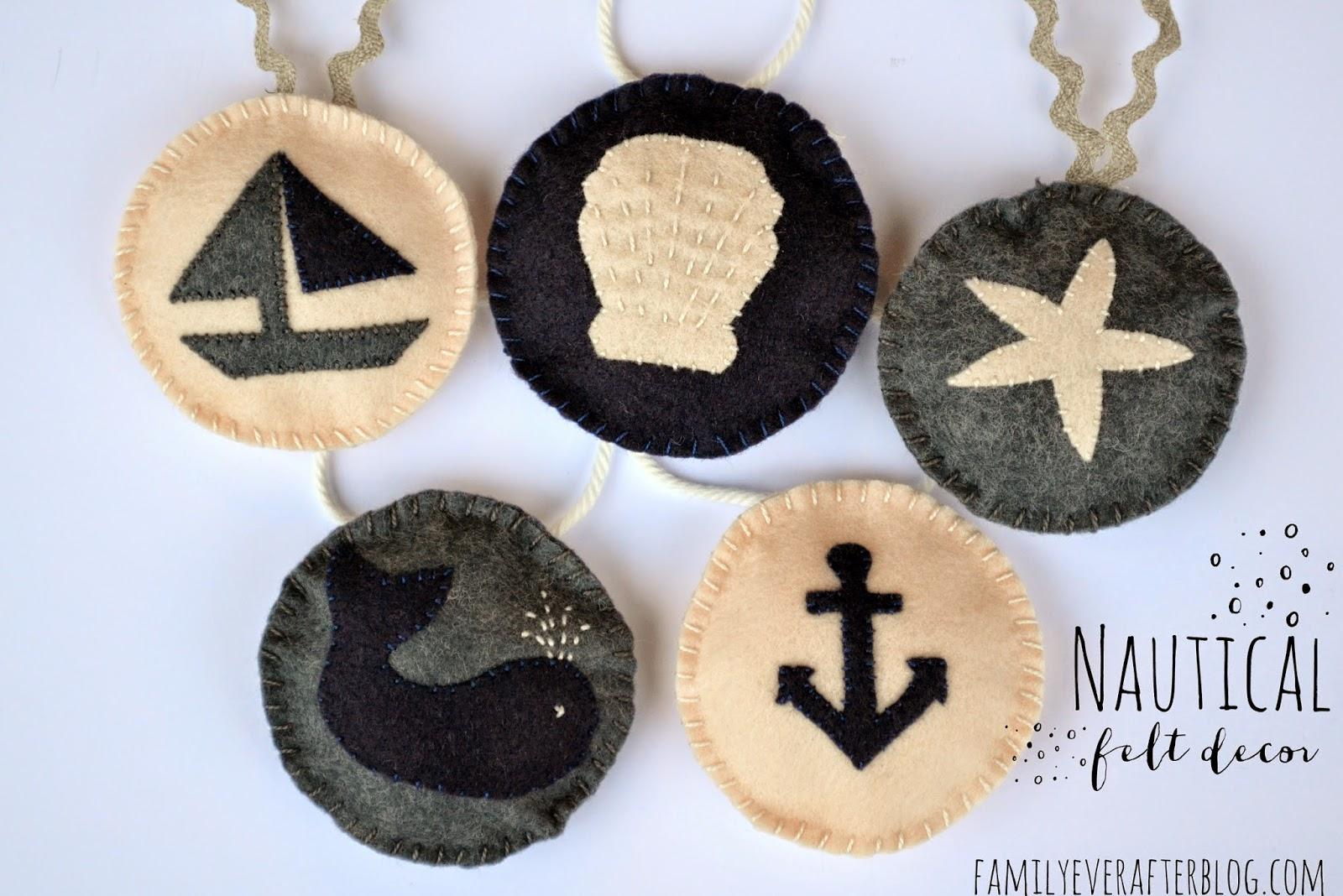 Nautical Felt Decorations {Tutorial}