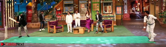 The Kapil Sharma Show with Abbas Mustan and Machine cast   TV Show Pics March 2017 05.JPG