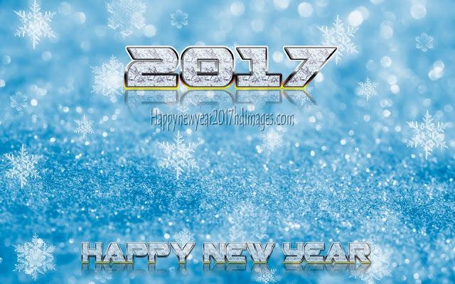 Happy New Year 2017 Desktop Sparkling Background