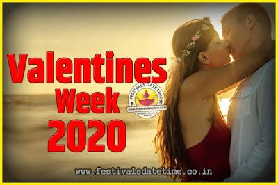 2020 Valentine Week List : 2020 Valentine Week Schedule, Hug Day, Kiss Day, Valentine's Day 2020