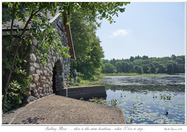 Sudbury River: ... there is this stone boathouse... where I love to stop...