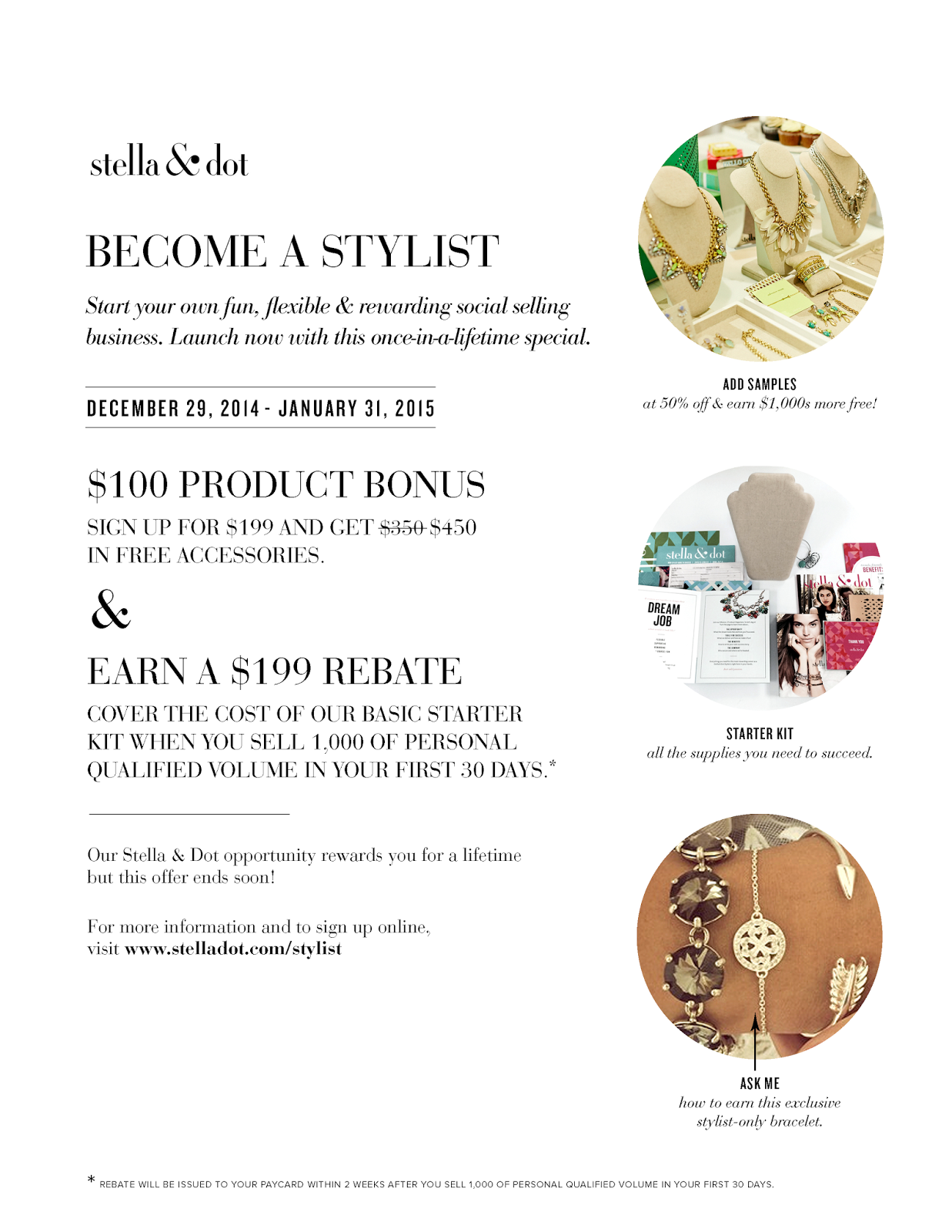 January Stella & Dot Sign Up Bonus