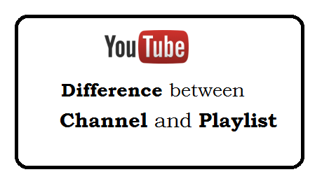 Difference between channel and playlist on youtube