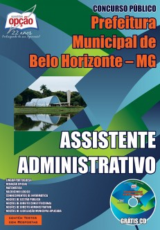 Apostila Prefeitura de Belo Horizonte Assistente Administrativo