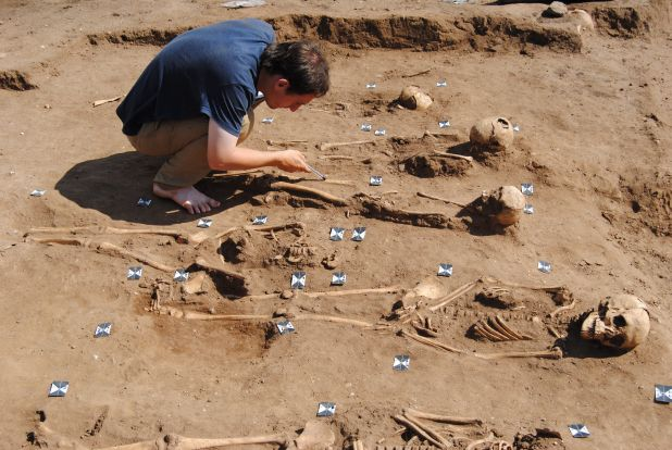 Black death 'plague pit' discovered at 14th-century monastery hospital